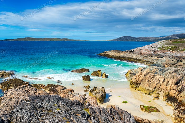 A sandy cove at Seilebost on the Isle of Harris