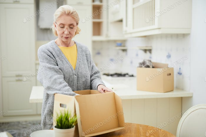 Woman relocating