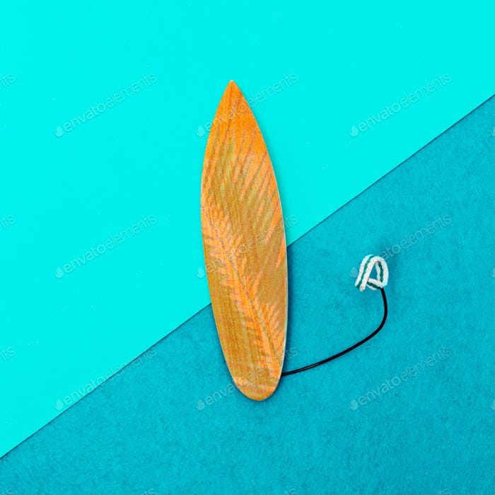 Surfboard minimal art design