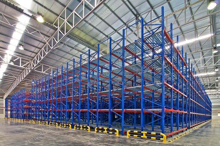 Warehouse industrial shelving storage system