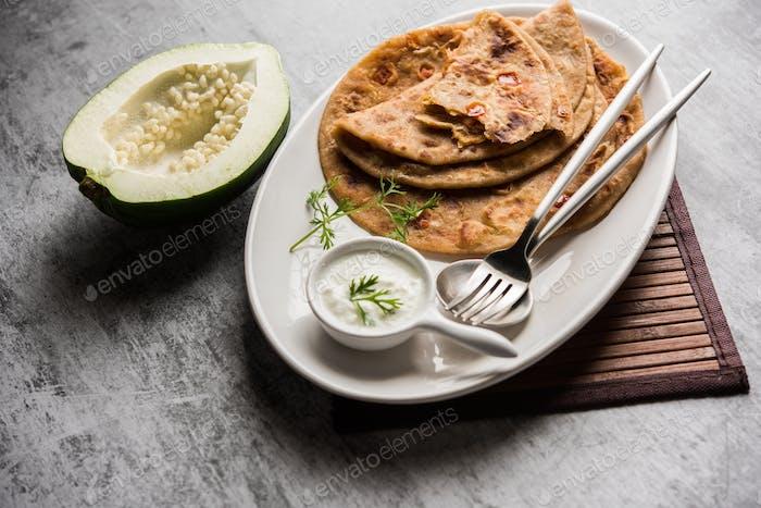 Raw Papaya flatbread