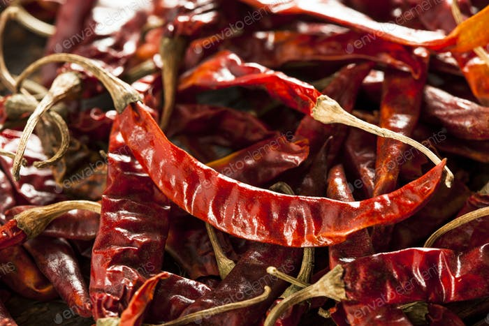 Organic Dried Red Hot Peppers