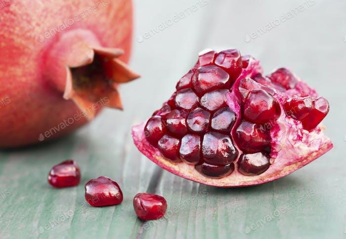 Pomegranate sweet fruits