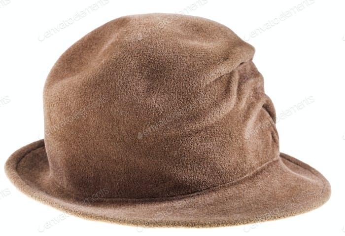 woman felt bowler hat