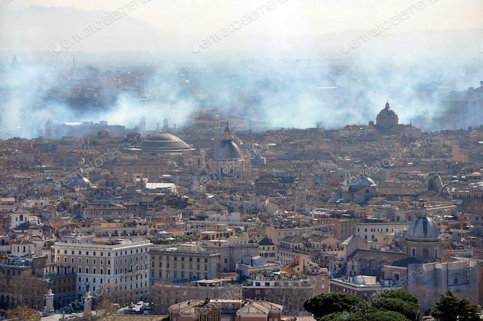 Drohne Ansicht der Stadt Rom, Italien