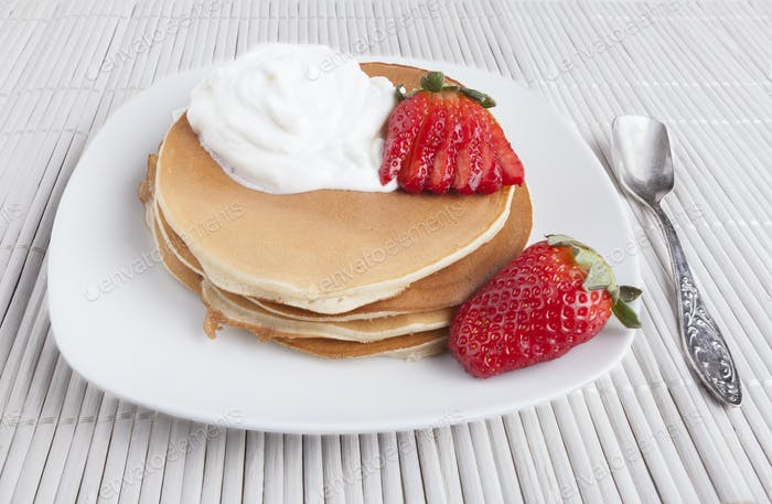 Pancakes with Spoon