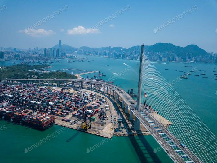 Terminal Containerhafen in Hong Kong
