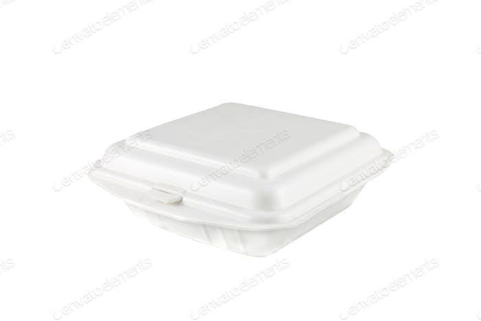 weiße Schaumstoffbox