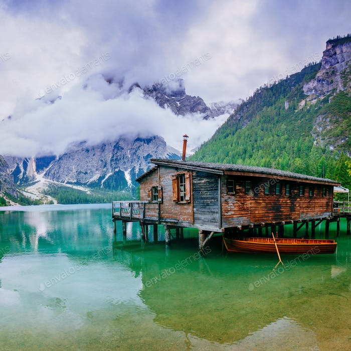 Houseboat in the Alps