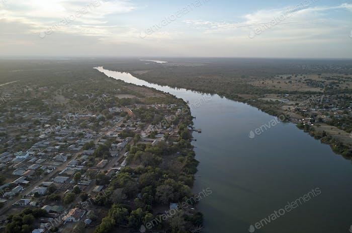 Gambia river at Janjanbureh
