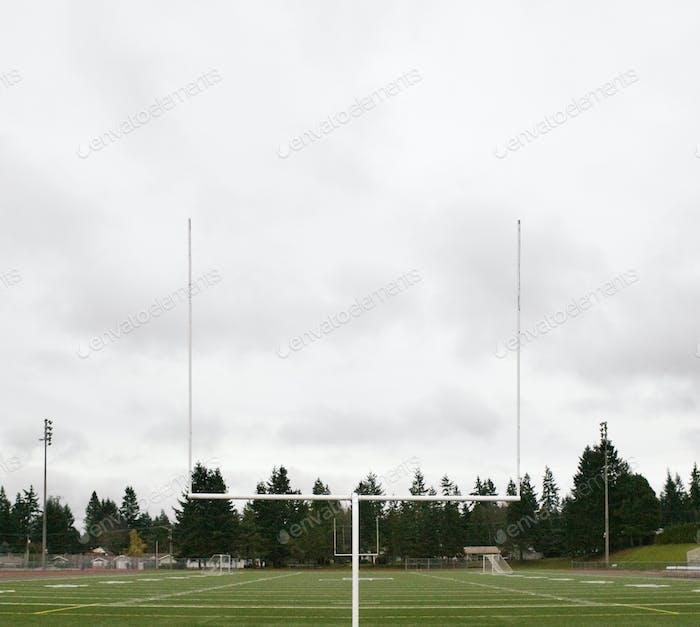 Football Field and Goalpost