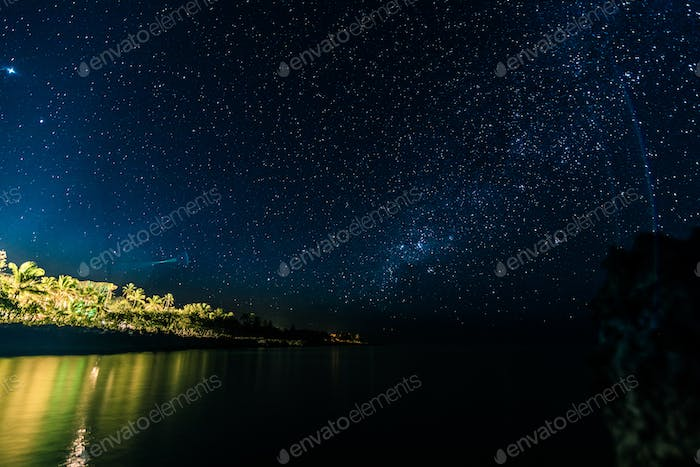 Night Long Exposure of the Stars