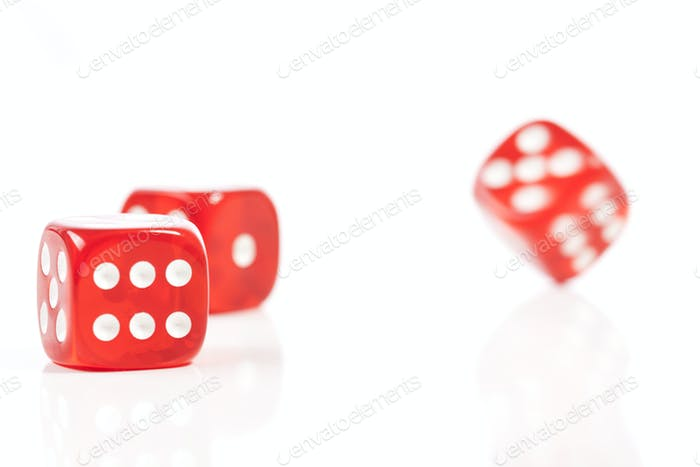 Moving Red Dice
