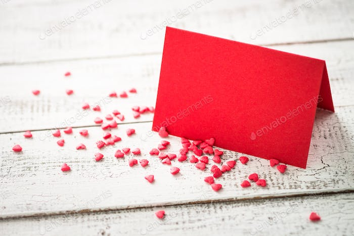 Valentines day background. Postcard confession of love