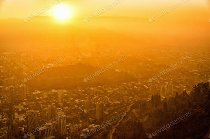 Santiago de Chile Sonnenuntergang