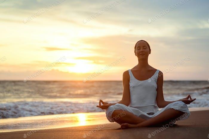 Yoga outdoors