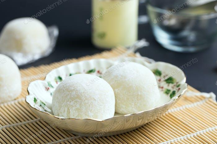 Japanese style mochi dessert