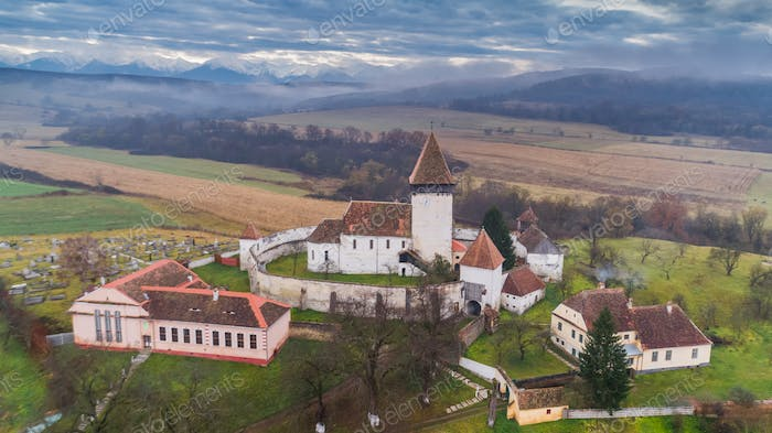 Hosman fortified church in Transylvania, Romania