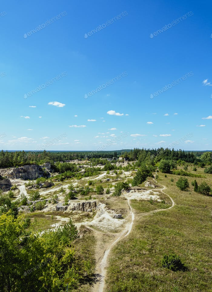 Quarry near Jozefow in Poland
