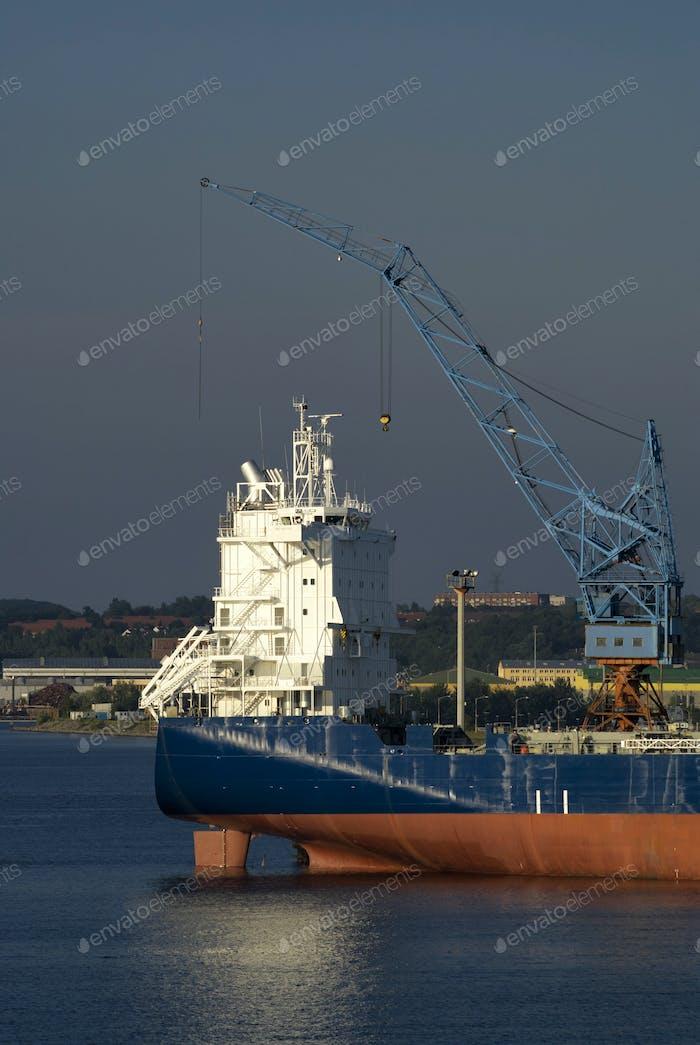 Ship in the Kiel Harbour