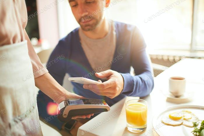 Paying bill through smartphone