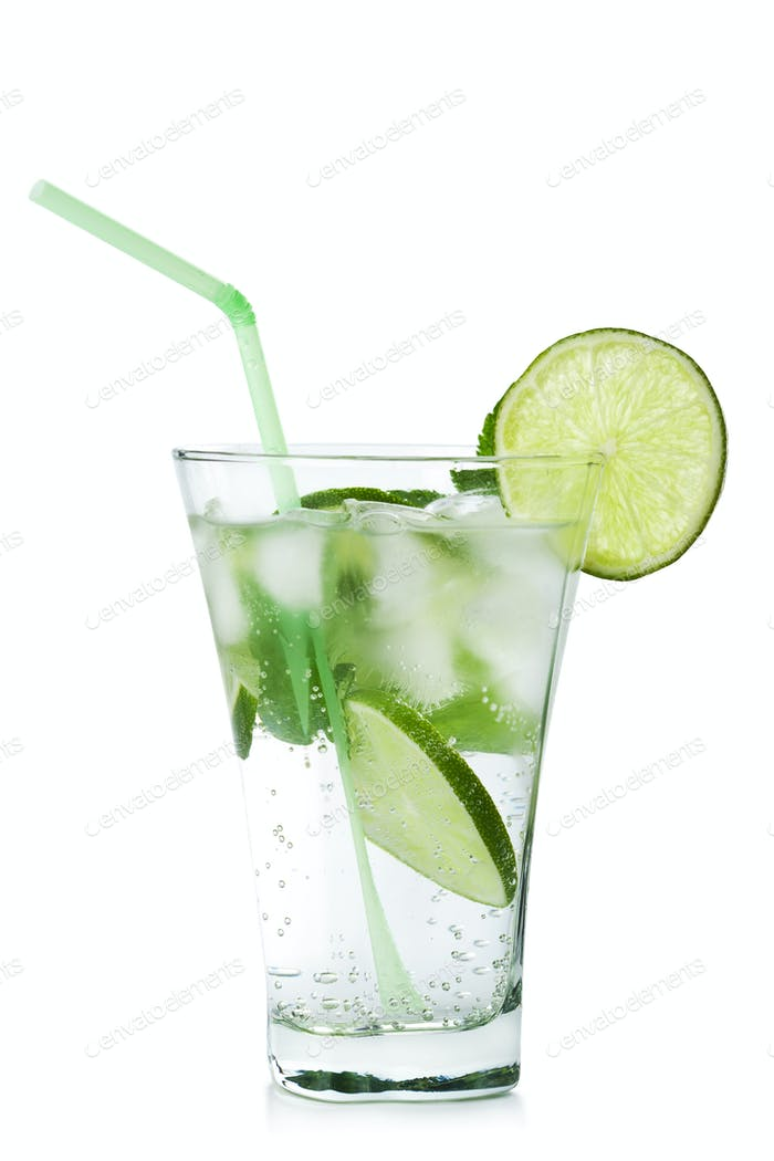 glass of  mojito isolated