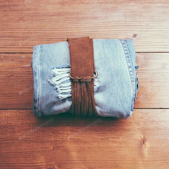 Vintage belt and jeans