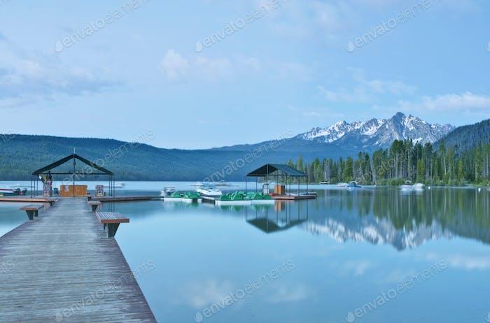 53060,Lakeside Pier at a Lodge Resort