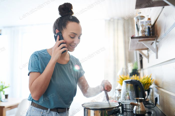 Busy housewife