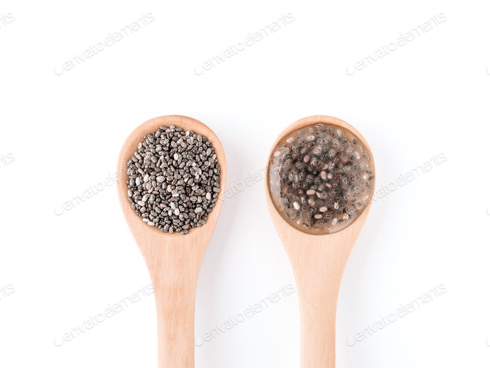vegans replace eggs concept - chia eggs