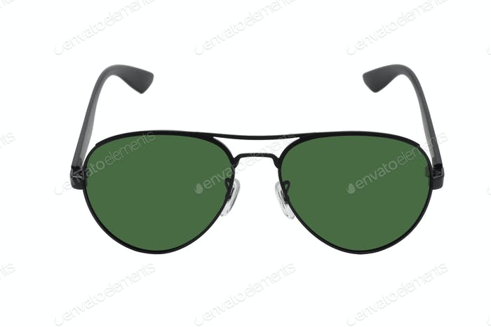 Black Sunglasses with Green Lens