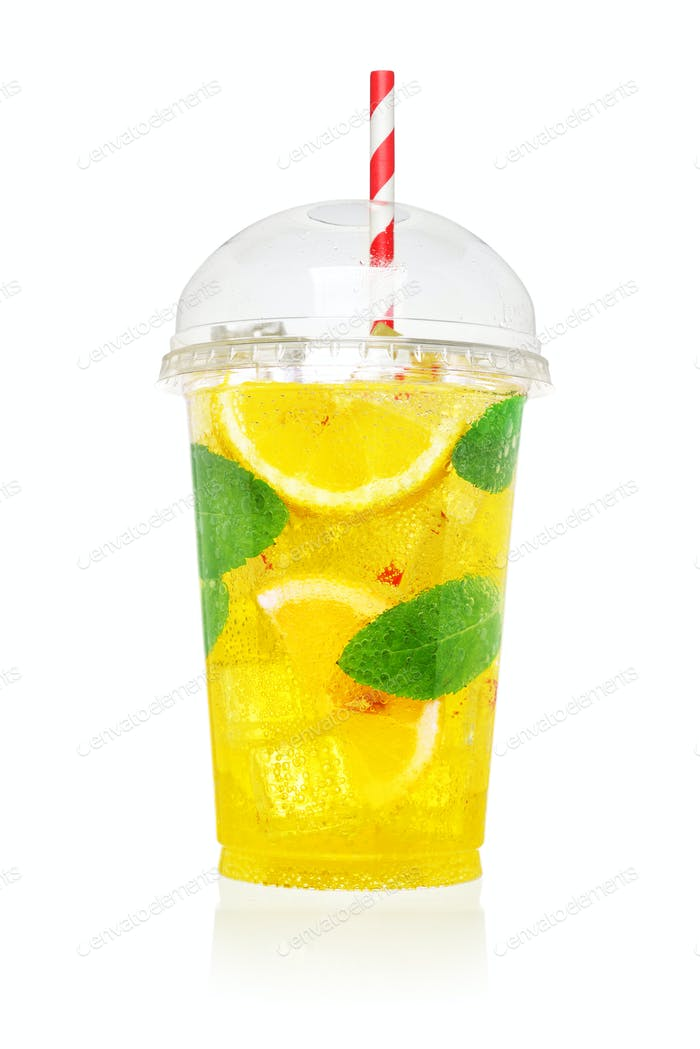 Lemonade soft drink isolated