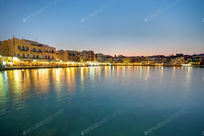 Chania after sunset