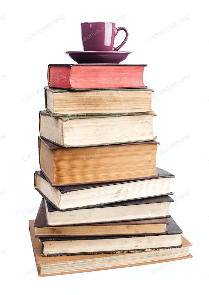 Purple Mug On Books
