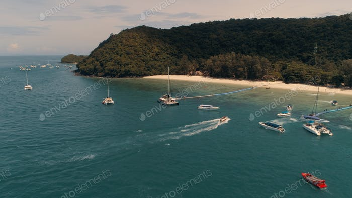 Island KO-HE in Thailand, shooting from a quadrocopter.