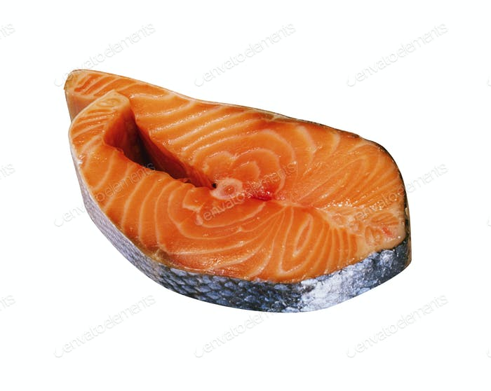 Salmon Raw Fillet isolated