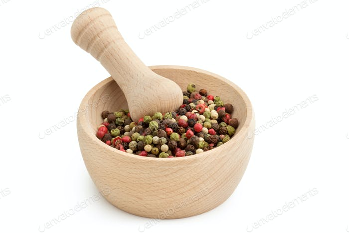 Mortar with peppercorn