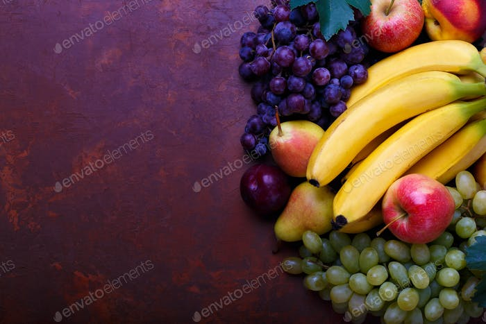 Ripe organic fruits