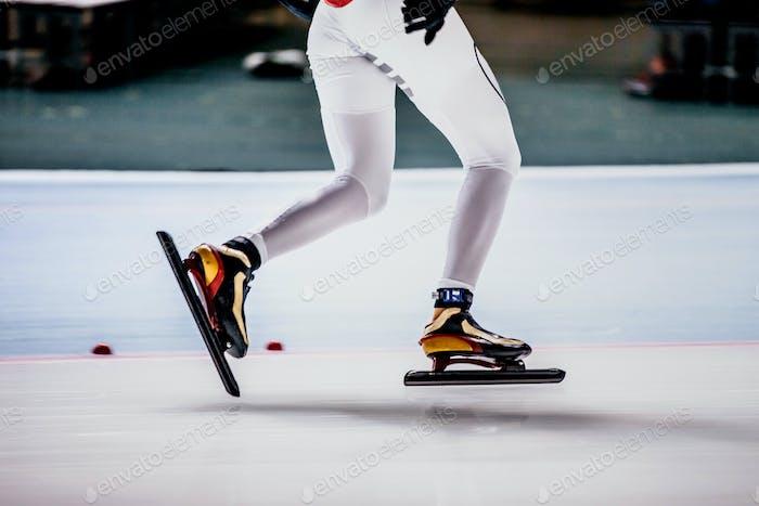 Legs of Women Speed Skater