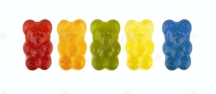 Neon gummierte Bonbons