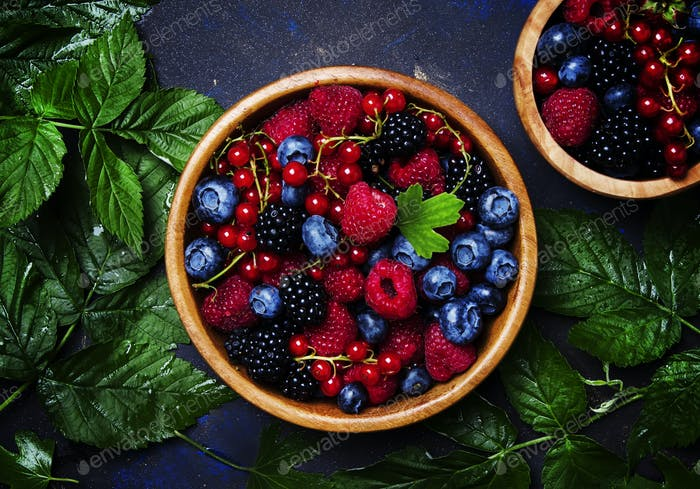 Summer berries in assortment