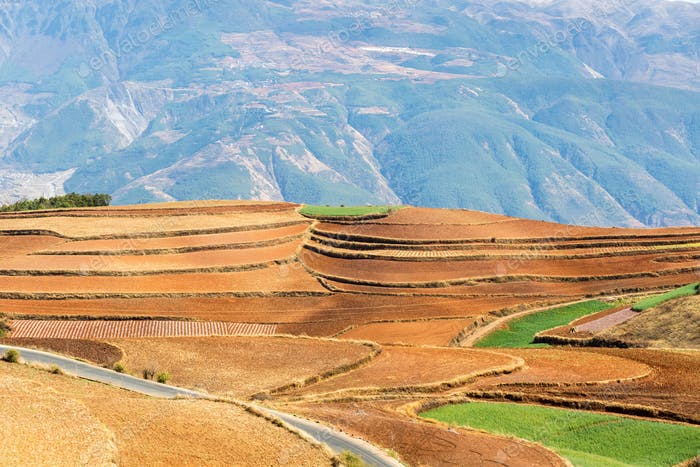 red land closeup in dongchuan district, kunming, China
