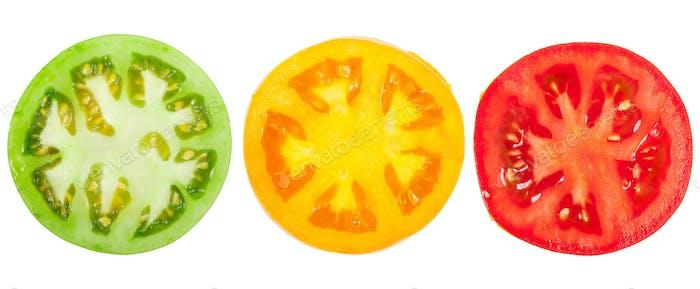 Tomate in Scheiben geschnitten