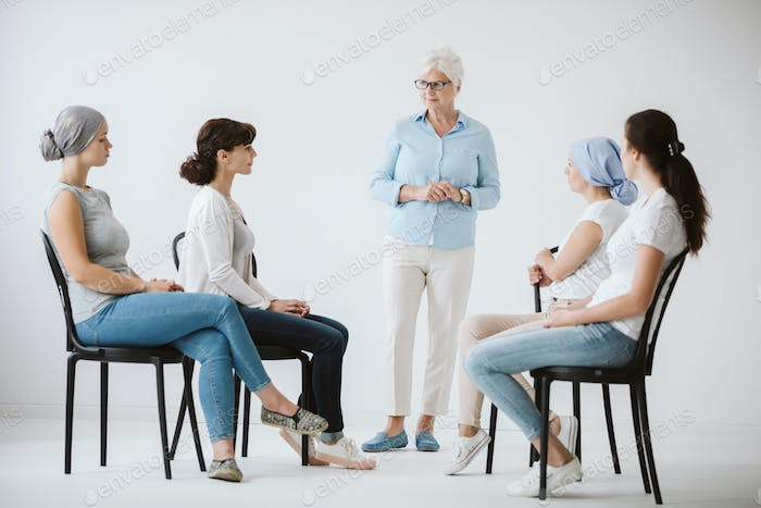 Therapist and patients