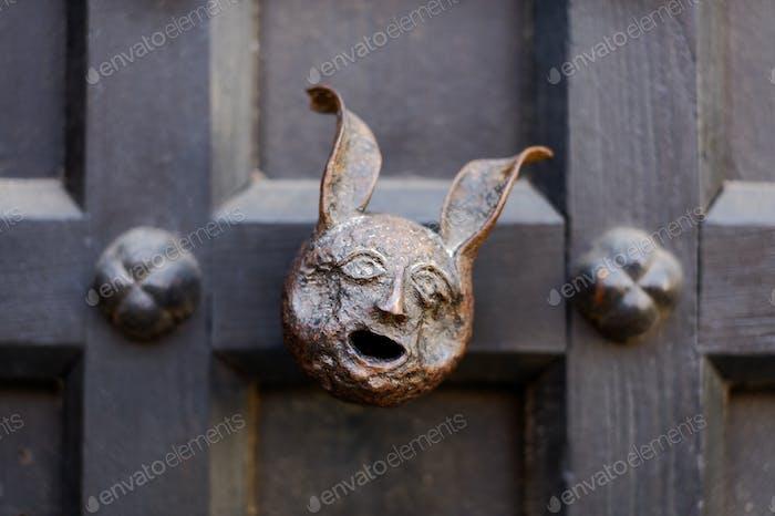 Unusual door handle