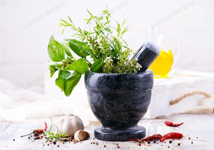 aroma de hierbas y especias