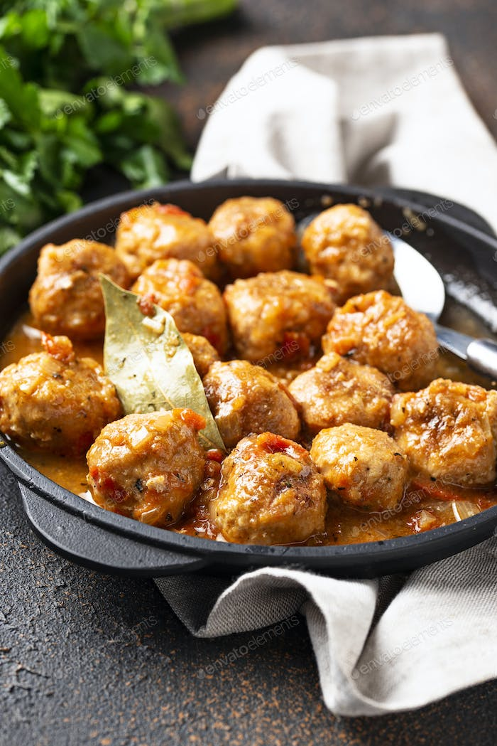 Thumbnail for Homemade meatballs with tomato sauce
