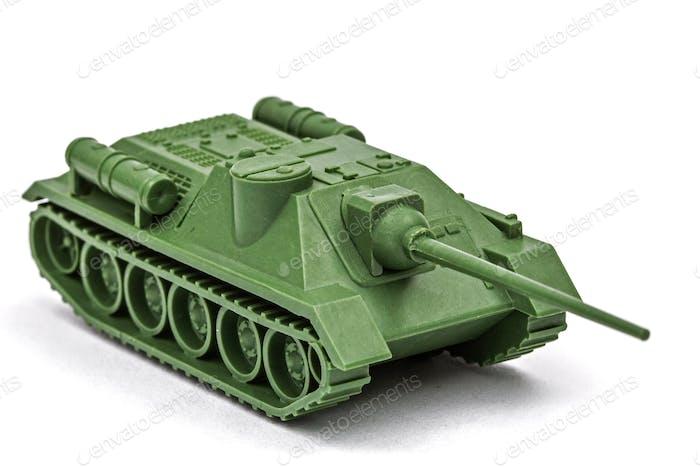 El tanque de juguete, aislado sobre Fondo blanco