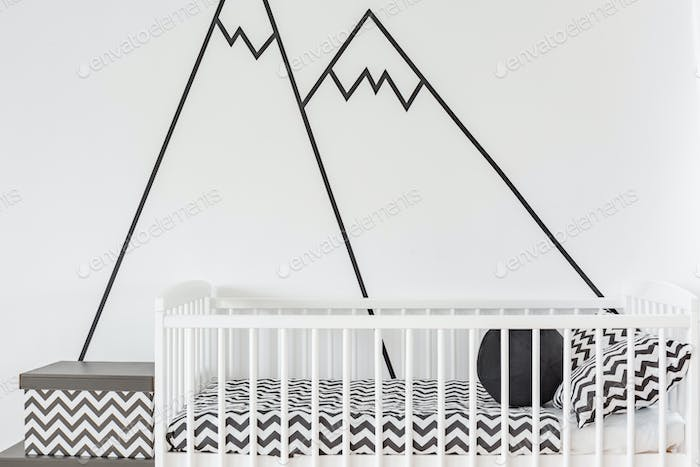 Wall decoration in baby room