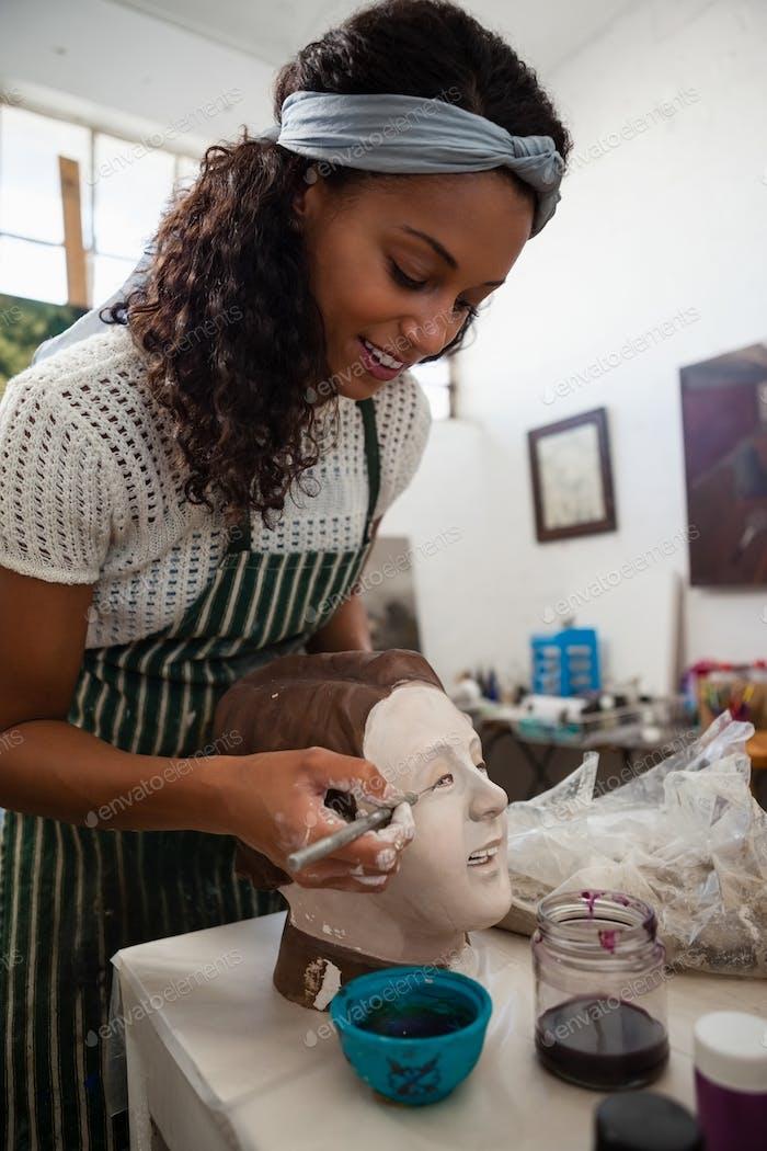 Beautiful woman molding sculpture